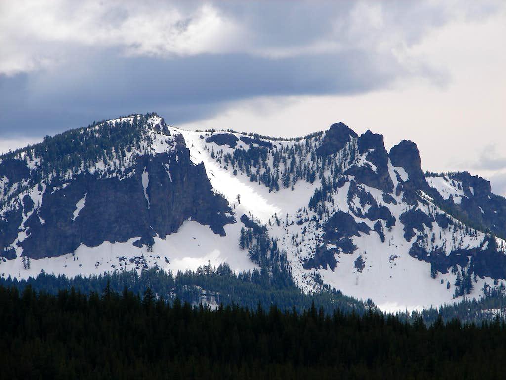 Paulina Peak In The Snow