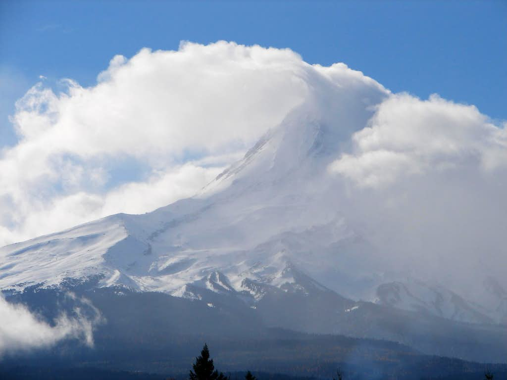 Mount Hood Engulfed in Clouds
