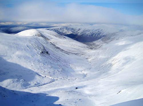 Looking north from Meall Ghlas summit