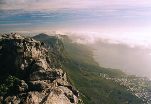 View from the summit of Table Mountain