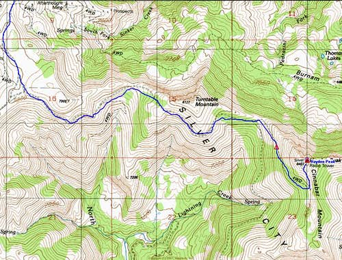 Hayden Topo with Route