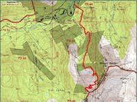 Peruvian Gulch Route Topo