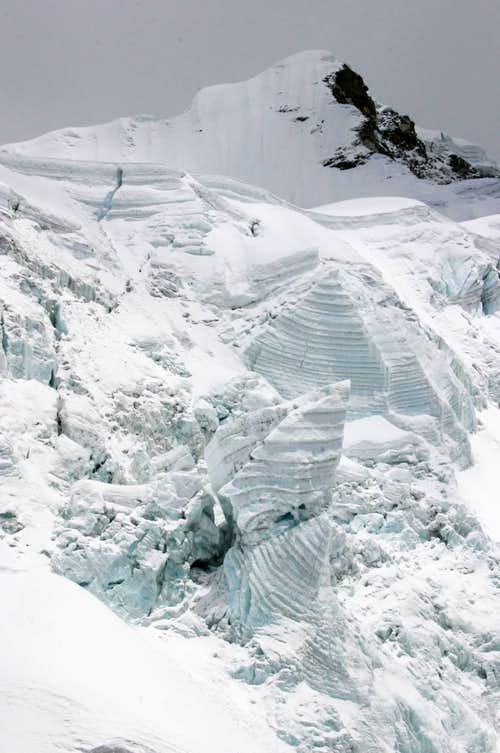 Summit of Island Peak, seen from just below the glacier