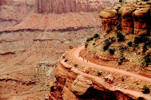 Bikers in Canyonlands National Park