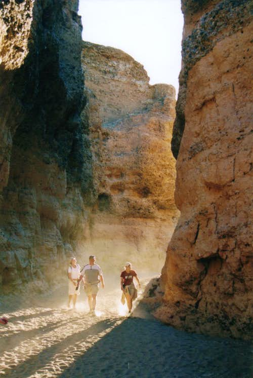 Walking in Sesriem Canyon