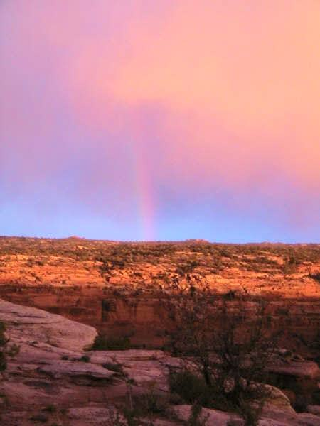 Rainbow over Spring Canyon