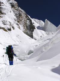 Climb to camp 2 on Khan Tengri s classic southern route