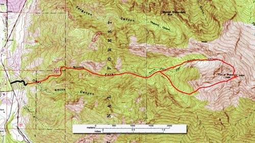 The Deaf Smith Canyon route....