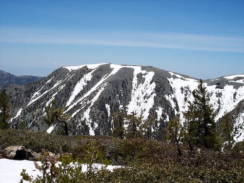 View of Mt. Harwood (Little Baldy) from Dawson Peak