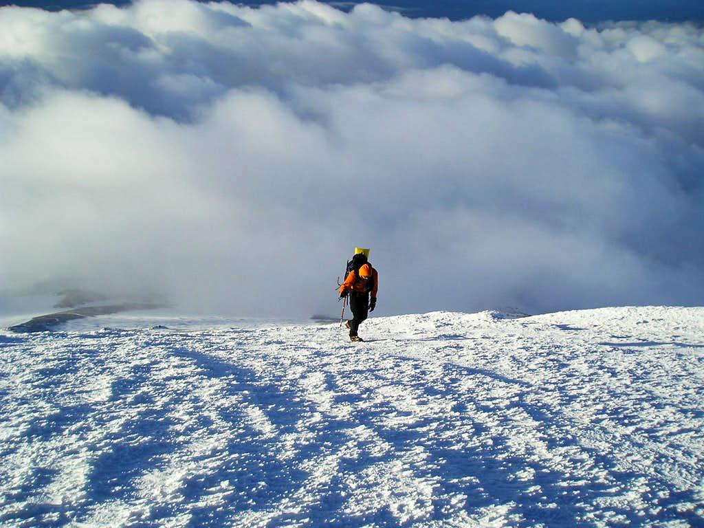 Hiking to Mt. Adams False Summit