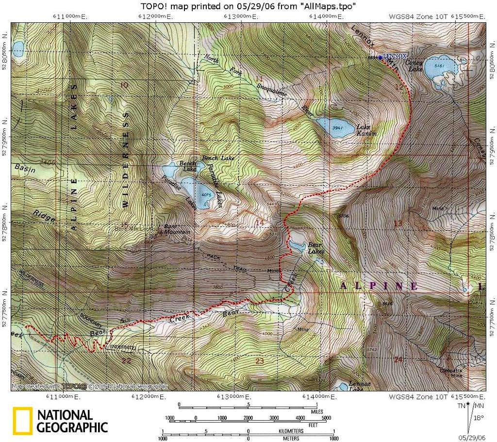 Lennox west route