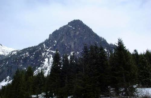 The steep west face of Guye...