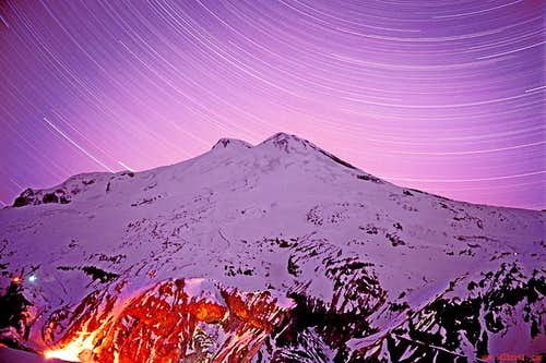 Elbrus with a stars...