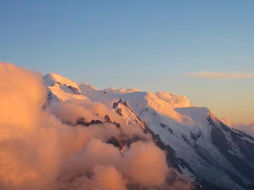 Mont Blanc and the Aiguille...
