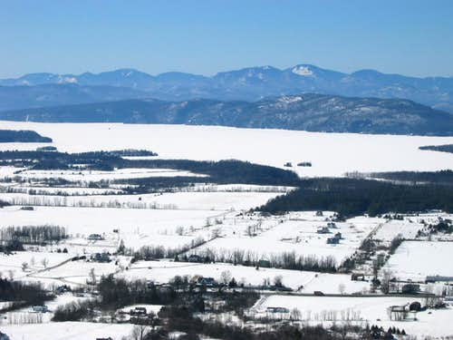 Winter view from Mt. Philo