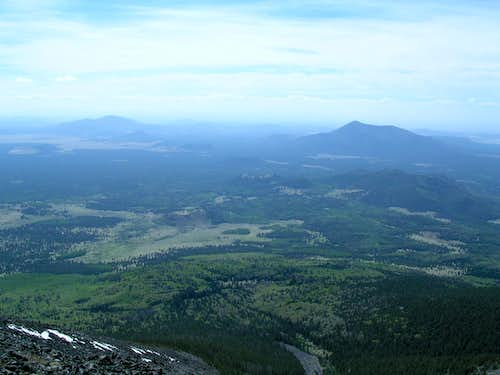 Humphreys Peak - looking west from the ridgeline
