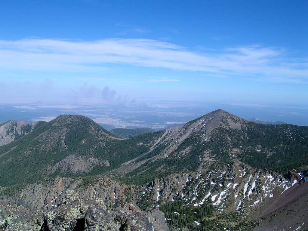 Looking east from the Humphreys Peak ridge