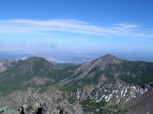 Looking east from the Humphreys Peak ridge