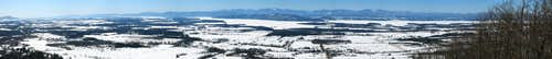 Mt. Philo Winter Panorama