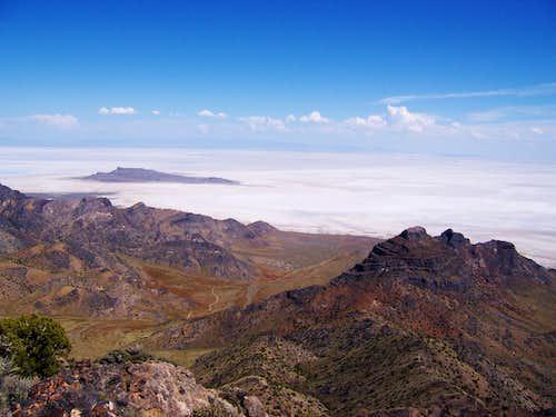 Graham Peak View of the Salt Flats
