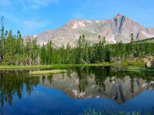 Mt Alice reflecting in a...