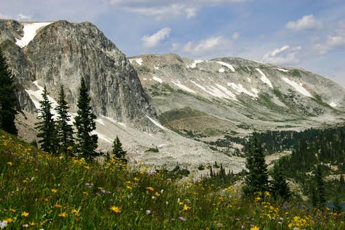 Hiking Toward Medicine Bow Peak