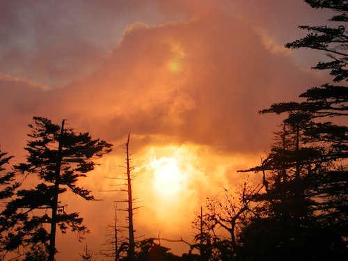 Sunset at Mount Mitchell