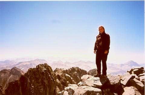 On the summit of Split Mountain