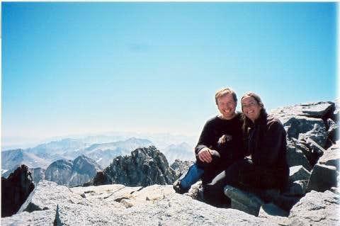 Dan and Kerstin on Split Mt. summit, 9/14/05