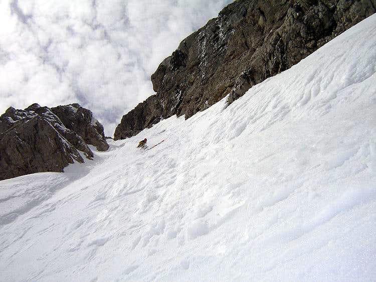 Telemark-skiing Torstein NO-couloir (55°)