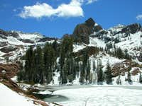 Sundial Peak as seen from Lake Florence