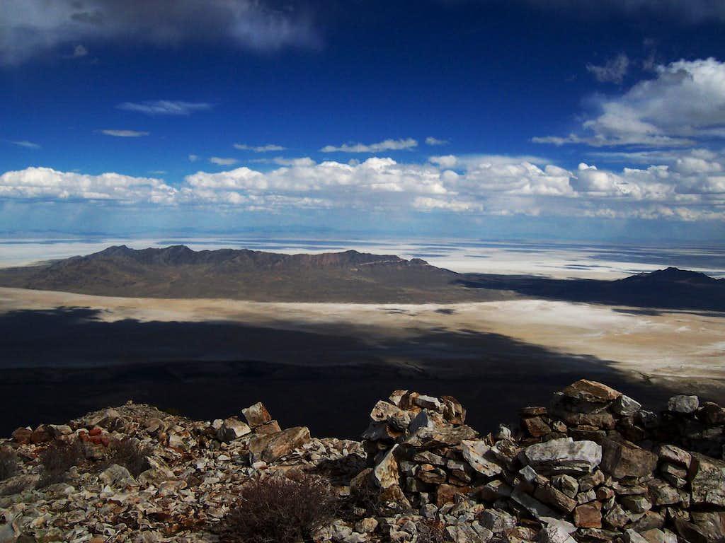 Silver Island Mountain Range from Pilot Peak