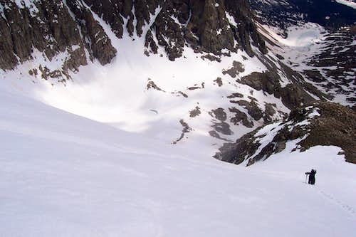 Isabelle Glacier and Queen\'s Way couloir