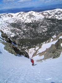 Takling a break in North Star Couloir
