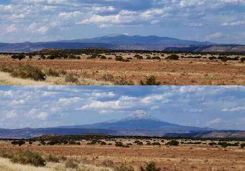 Old vs. New Mt. Taylor