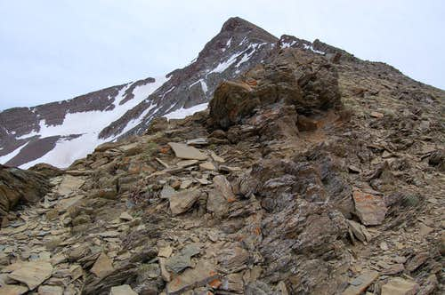 Sedimentary rock on Peak 13,220