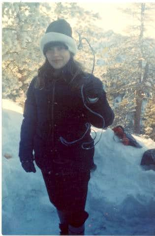 On Mt. San Gorgonio with a frozen shoelace, January 1985