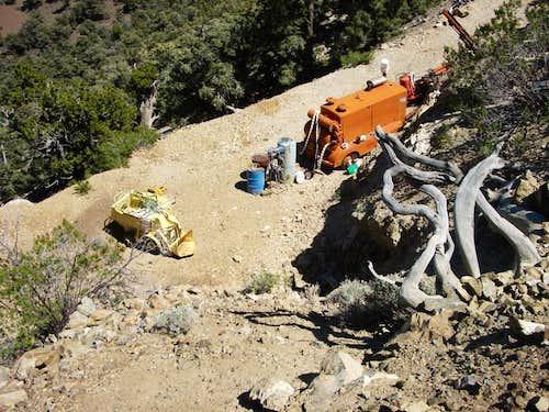 Abandoned mining equipment