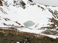 Iztaccihuatl (June 2, 2006), this is the frozen lake at the bottom of the crater