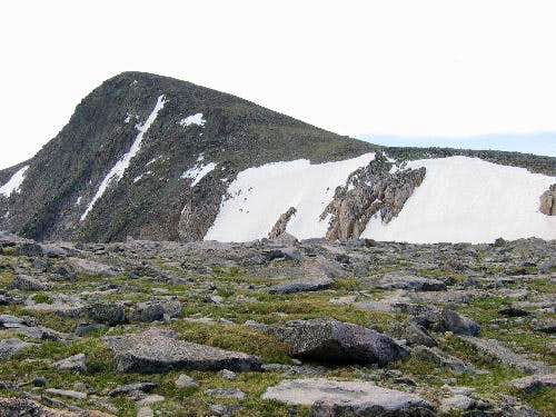The summit of Hallett Peak as...