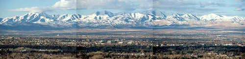 The Oquirrh Range from Mt Olympus