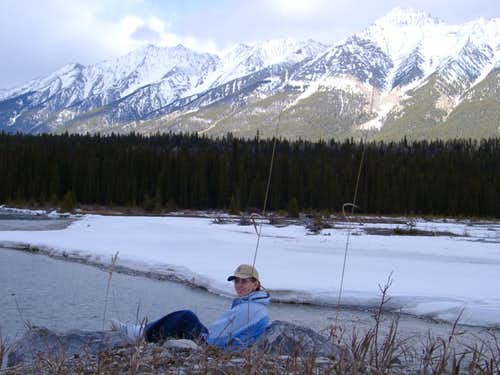 Kicking back in the Canadian Rockies