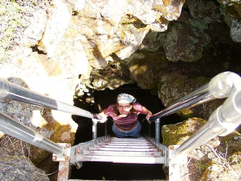Caving in Lava Beds National Monument
