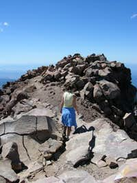 Nearing the summit of Mount McLoughlin