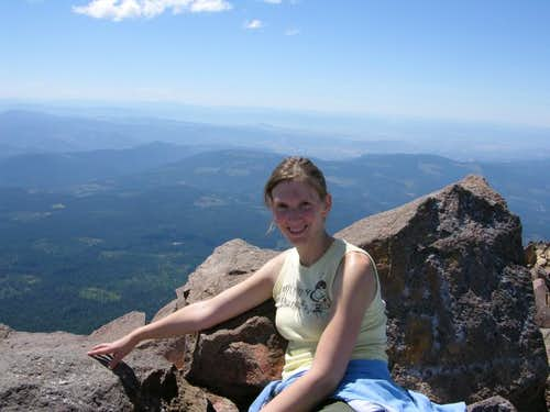 On the summit of Mount McLoughlin