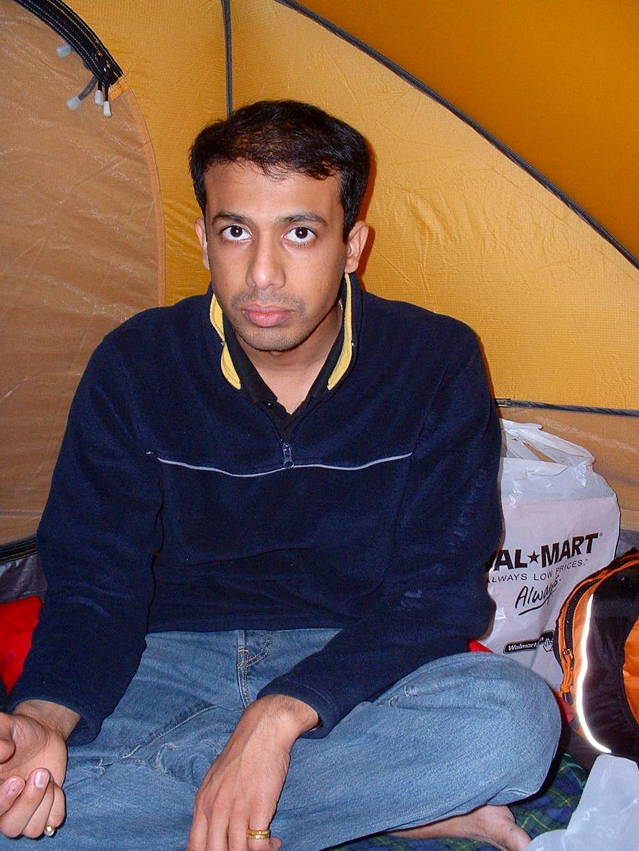 Rakya, in the tent
