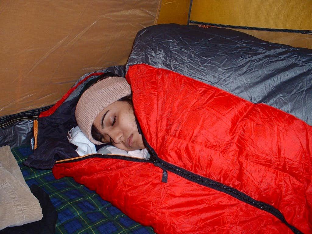 Manasi, sleeping
