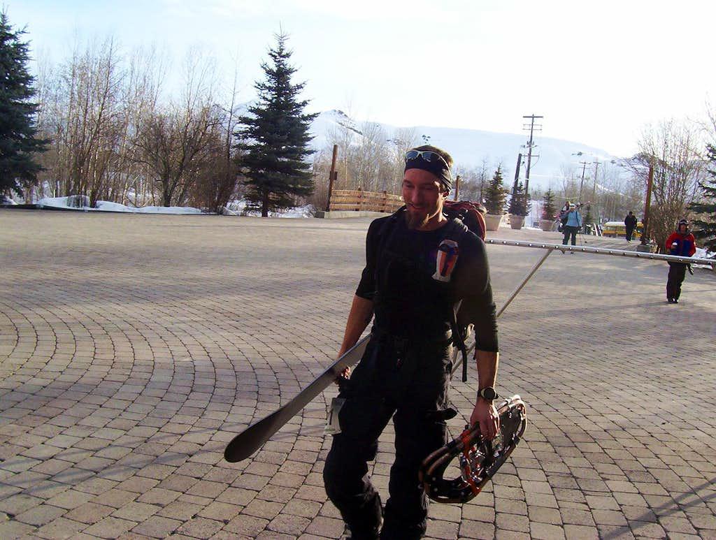 John doing the Atlas Snowshoe Challenge