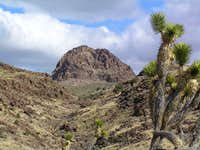 Hart Peak seen through canyon we used.