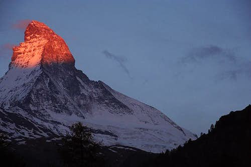 Cervino at Sunrise from Zermatt